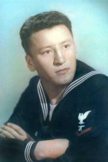 Picture of Ernest Wabasha in Navy Uniform