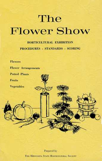 Minnesota State Horticultural Society, Flower Show Judging Brochure