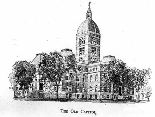 Black and white print of the Minnesota State Capitol, c.1900.