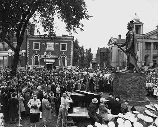Leif Erikson memorial dedication ceremony