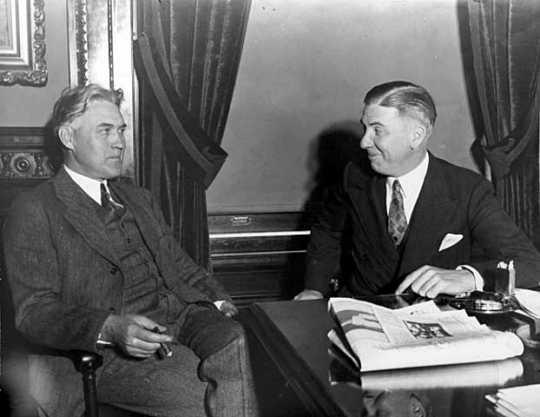 Henrik Shipstead with Floyd B. Olson