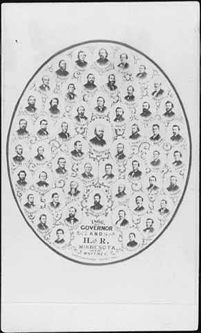 Governor William Marshall and members of the Minnesota House of Representatives