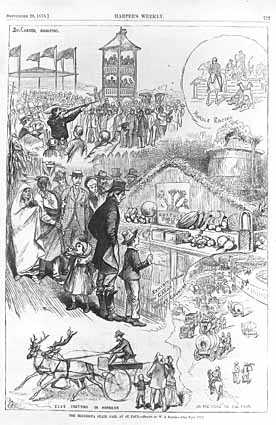 Black and white advertisement for the Minnesota State Fair, 1878.
