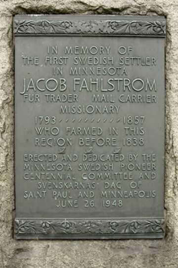 Jacob Fahlström plaque