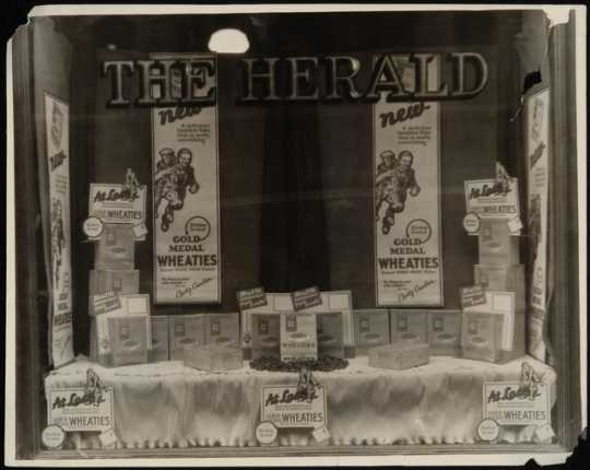 Window display featuring Wheaties