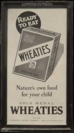Wheaties advertising, ca. 1930s.