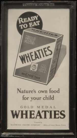 Wheaties advertising, ca. 1930s.