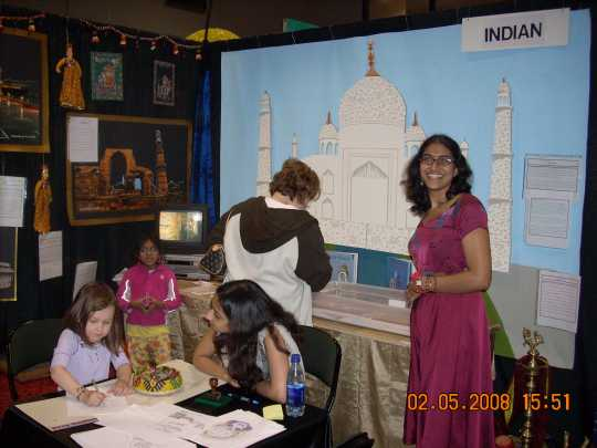 India booth at the 2008 Festival of Nations