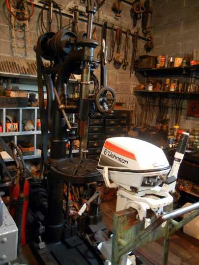 Interior of Finstad's Auto-Marine Shop