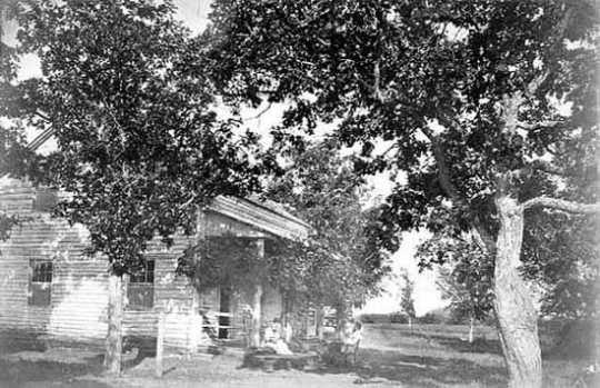 First farmhouse, Oliver Kelley farm, Sherburne County