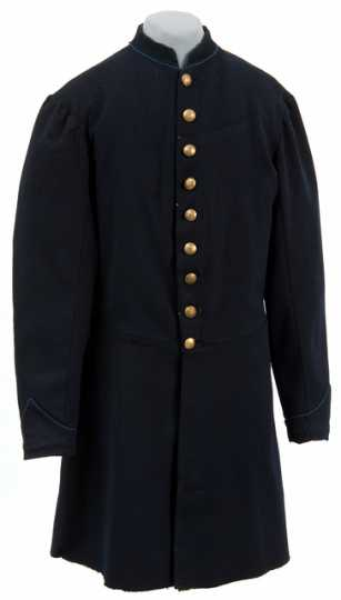 "Blue wool ""nine-button"" Civil War frock coat"