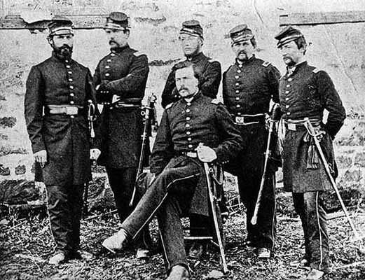 Officers of the First Minnesota Volunteers at Camp Stone