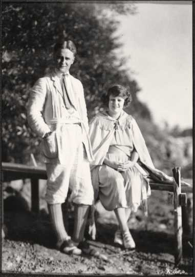 F. Scott and Zelda Fitzgerald at Dellwood the month before Scottie's birth.