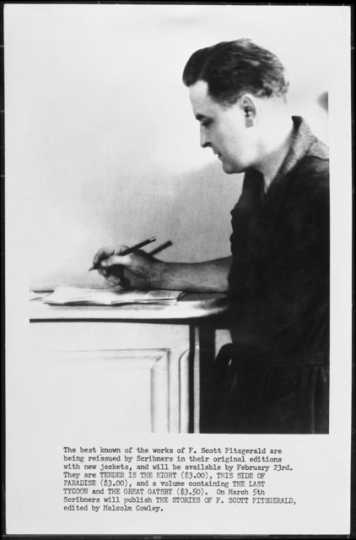 F. Scott Fitzgerald at desk