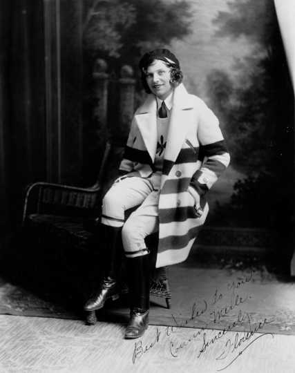 Black and white photograph of Florence Klingensmith, ca. 1930.