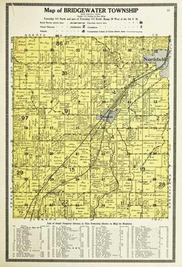 Map of Bridgewater Township
