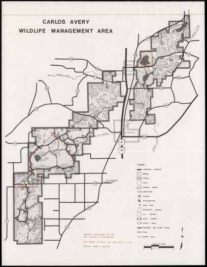 Map of the Carlos Avery Wildlife Management Area