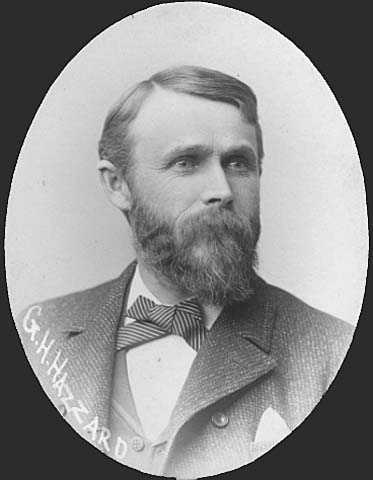 Black and white photograph of George Henry Hazzard, 1889.