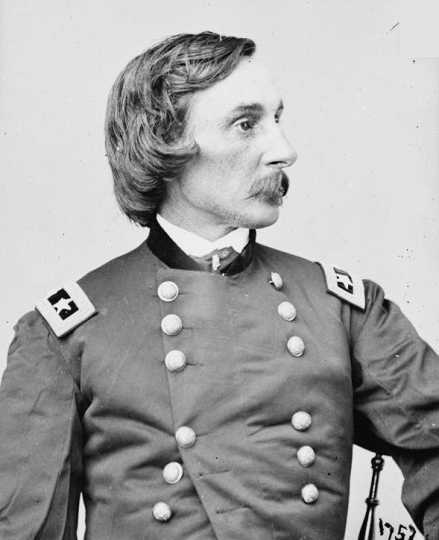 Black and white photograph of Major General Gouverneur Kemble Warren, United States Army, ca. 1863.