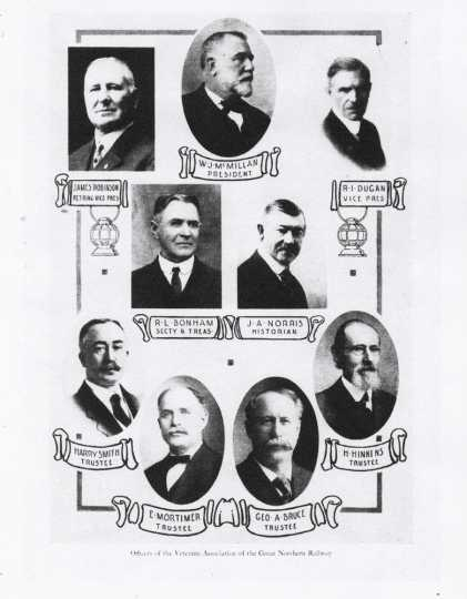 Officers of the Veterans' Association of the Great Northern Railway