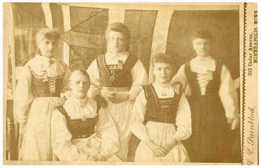 Photograph of women in Norwegian costume