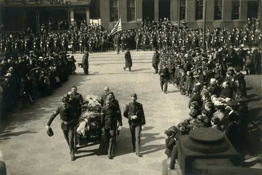 Photograph of Ramsey's funeral procession
