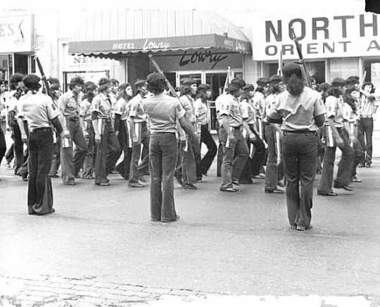 Brown Berets marching in St. Paul's Mexican Celebration Parade