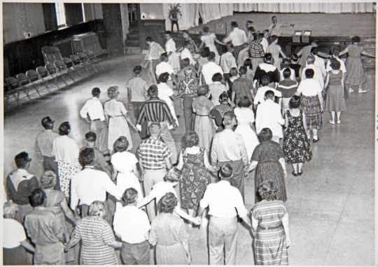 Dancing in the auditorium of the Anoka State Hospital, ca. 1960.