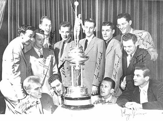 The Lakers, the NBA's first dynasty, shown in 1950.