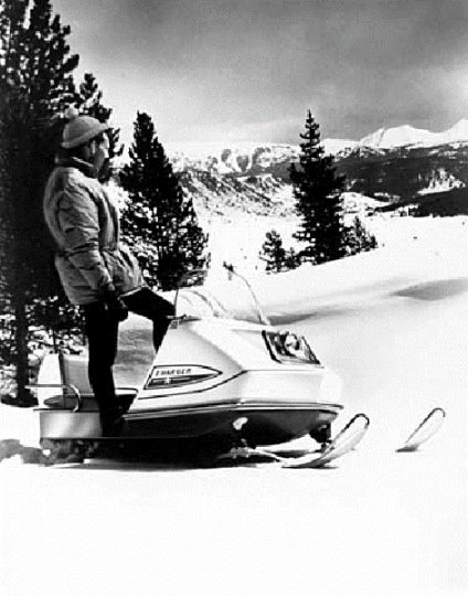 Publicity photo of the 1969 Polaris Charger.