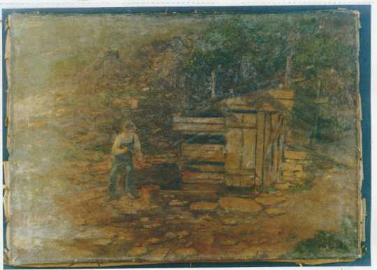 Painting by Herbjorn Gausta of a natural spring