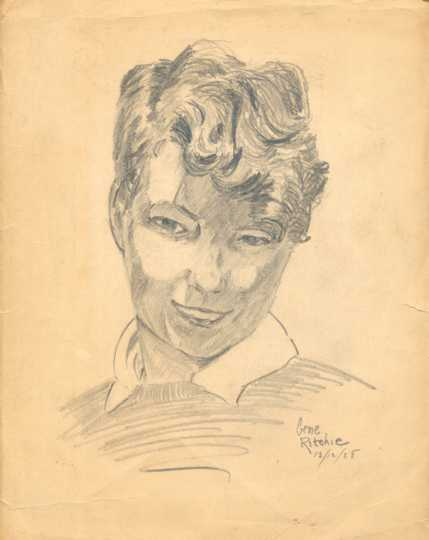 Gene Ritchie self-portrait