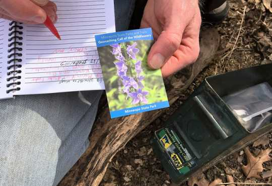 Color image of the Geocaching History Challenge, April 8, 2017.