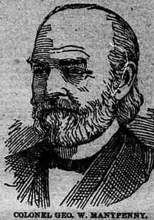 Black and white illustration of George W. Manypenny, commissioner of Indian affairs, c.1860.