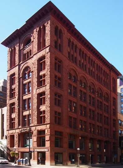 Color image of the exterior of the St. Paul Building (previously the Germania Bank), 2012.
