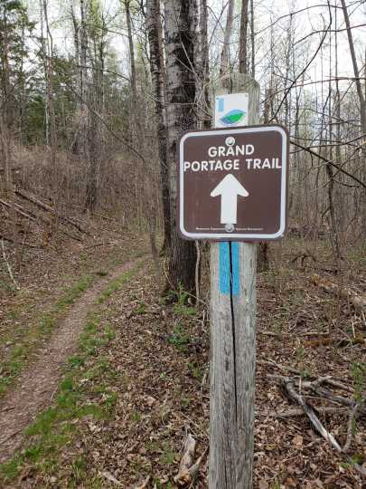 Grand Portage Trail within Jay Cooke State Park, 2018. Photograph by Jon Lurie; used with the permission of Jon Lurie.