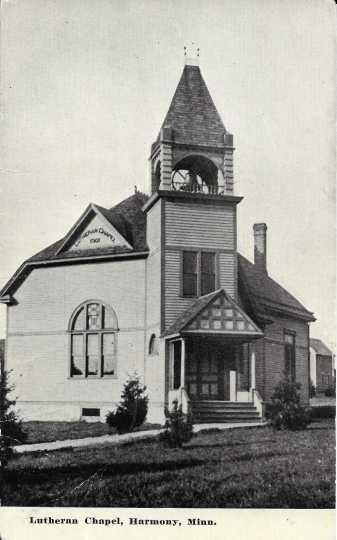 Photograph of Greenfield Lutheran Chapel, Harmony, Minnesota