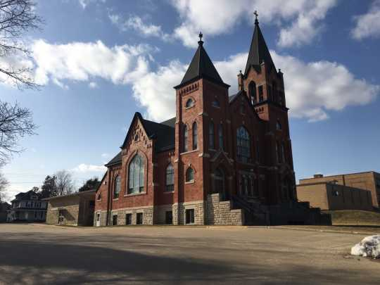 Photograph of side exterior of Greenfield Lutheran Church