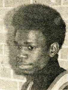 Black and white photograph of Ron Ford, coordinator of the Black Student Organization at Gustavus Adolphus College in the 1970s.