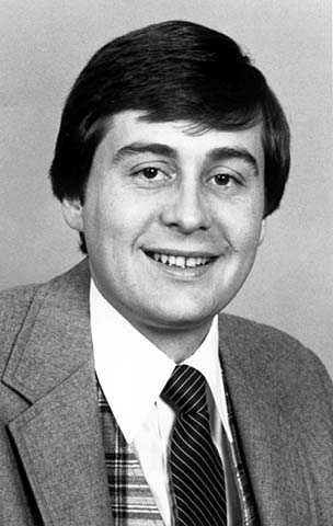 Black and white photograph of former State Representative Gil Gutknecht, c.1983.