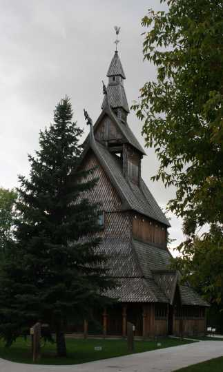 Hopperstad Stave Church replica, summer