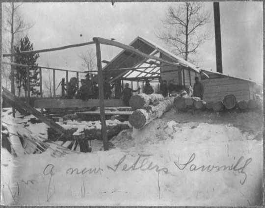Norwegian immigrants' sawmill