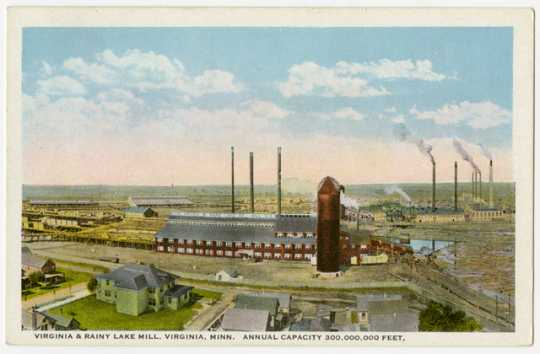 Virginia and Rainy Lake Mill, Virginia, ca. 1910.