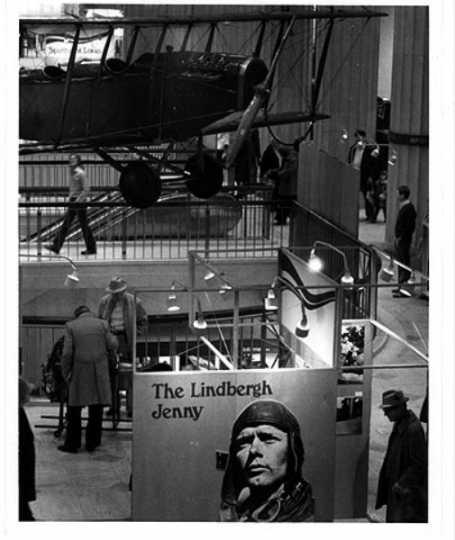 """Lindbergh """"Jenny"""" exhibit, Northwestern National Bank"""