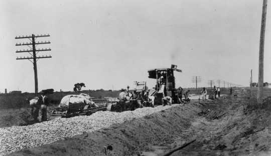 Construction of Jefferson Highway in Anoka County