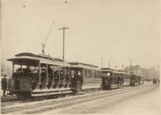 Opening of streetcar line on Grand Avenue, St. Paul