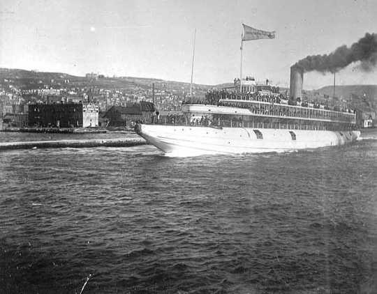 Whaleback Christopher Columbus in Duluth Harbor