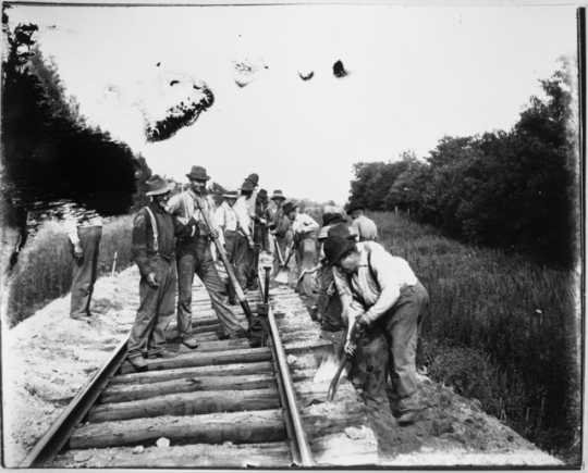 Swedish railroad laborers