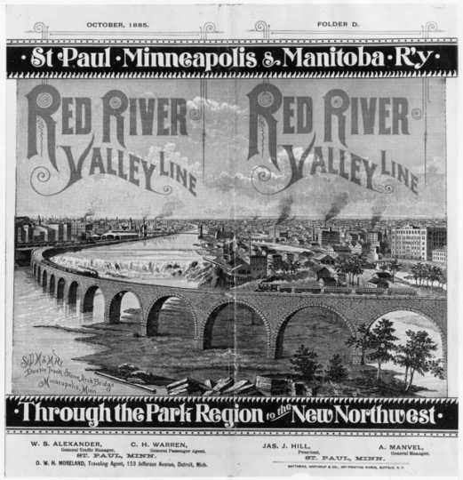 Advertisement for the St. Paul, Minneapolis & Manitoba Railway