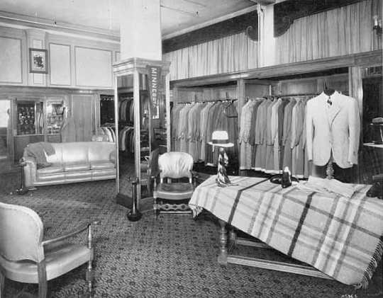 Black and white photograph of Men's department, c.1926.